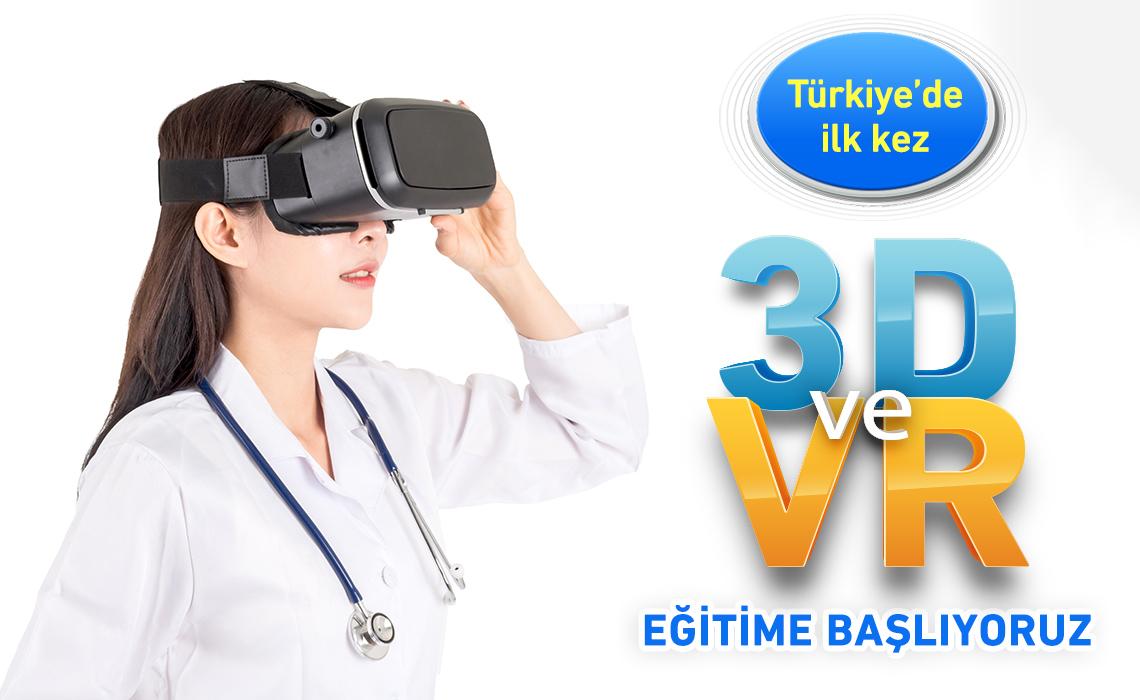 VR ve 3D Eğitime Başlıyoruz